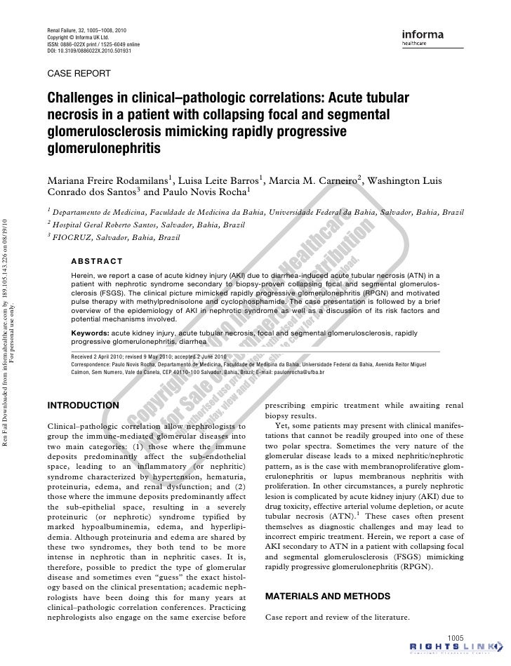 Acute Kidney Injury in Nephrotic Syndrome