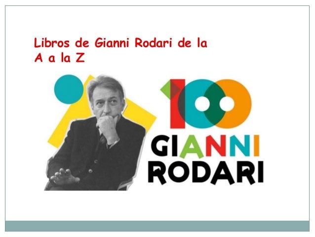 Libros de Gianni Rodari de la A a la Z