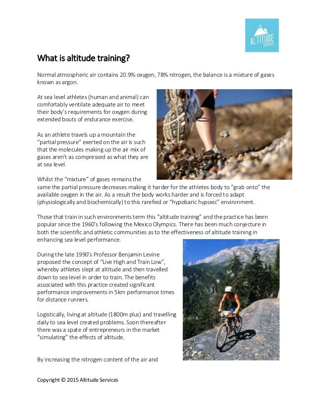 Rod Cedaro What Is Altitude Training - What is altitude