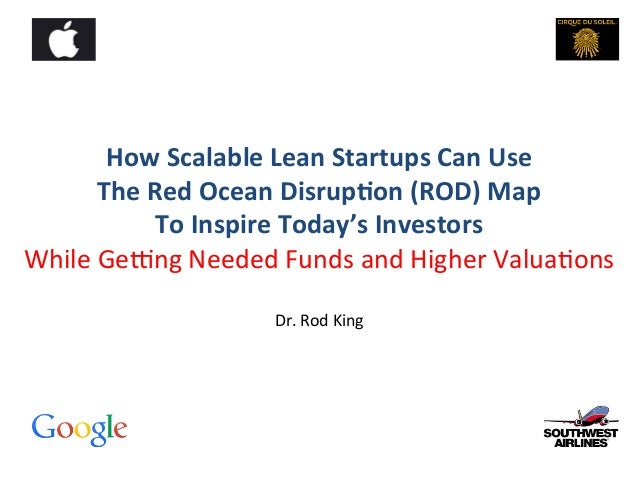 How	   Scalable	   Lean	   Startups	   Can	   Use	    The	   Red	   Ocean	   Disrup;on	   (ROD)	   Map	   	    To	   Inspi...