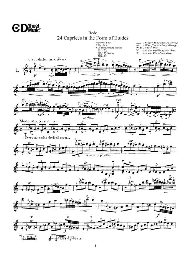 Rode 24 caprices (www.sheetmusic-violin.blogspot.com)
