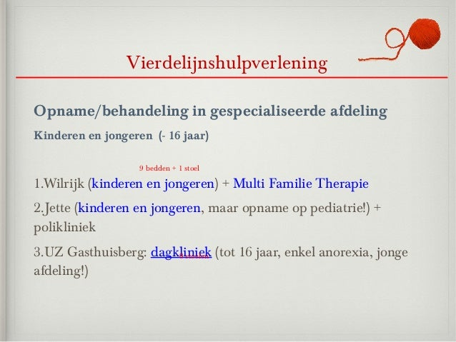 VierdelijnshulpverleningOpname/behandeling in gespecialiseerde afdelingKinderen en jongeren (- 16 jaar)                   ...
