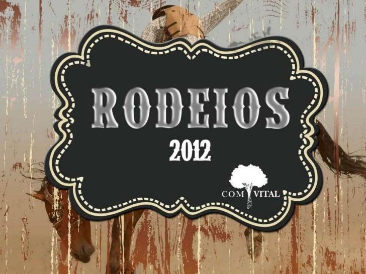 Rodeios 2012 é na COMVITAL
