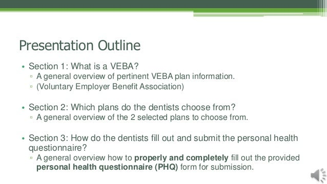 VEBA Plan & How to Fill Out A PHQ