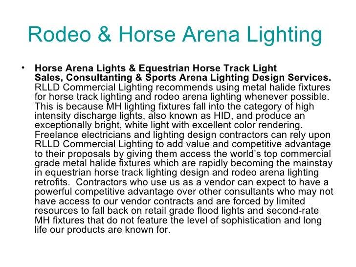 rodeo horse arena lighting