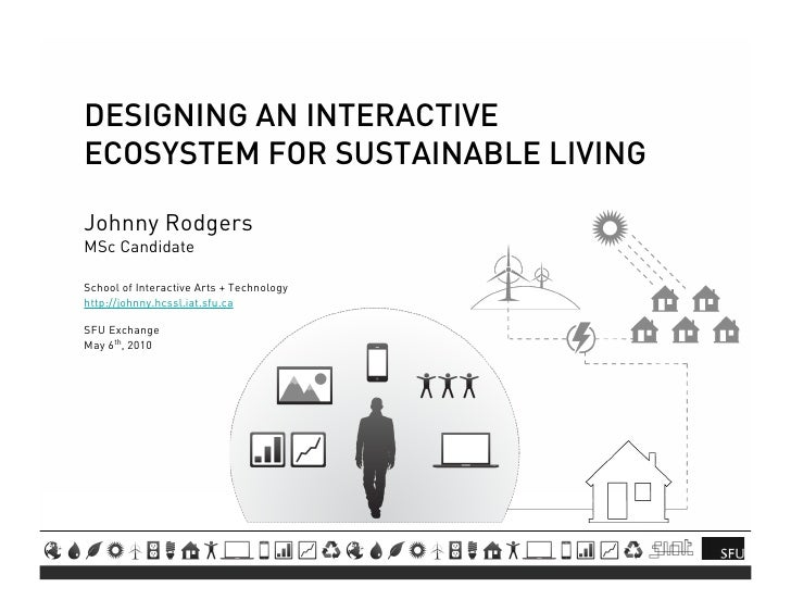 DESIGNING AN INTERACTIVE ECOSYSTEM FOR SUSTAINABLE LIVING  Johnny Rodgers MSc Candidate  School of Interactive Arts + Tech...