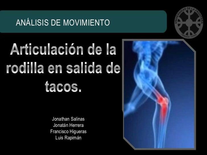 ANÁLISIS DE MOVIMIENTO         Jonathan Salinas         Jonatán Herrera        Francisco Higueras           Luis Rapimán