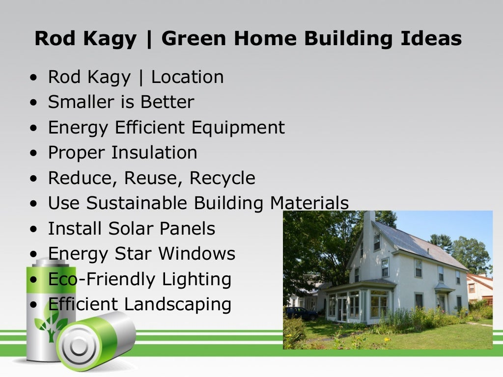 Green Home Building Ideas - Home Design Ideas