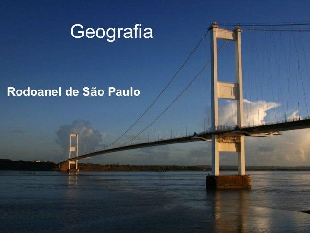 Geografia Rodoanel de São Paulo