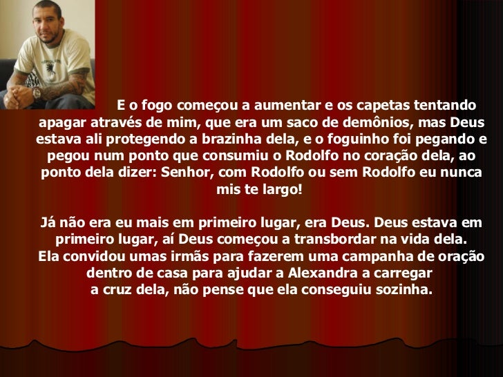 DE RODOLFO TESTEMUNHO COMPLETO BAIXAR ABRANTES