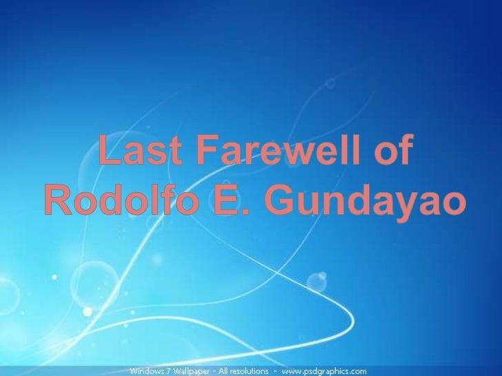 Rodolfo E. Gundayao