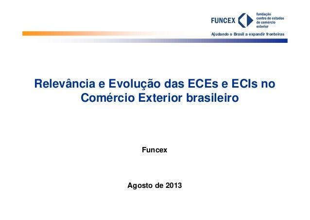 Ajudando o Brasil a expandir fronteiras 26/8/2013 Relevância e Evolução das ECEs e ECIs no Comércio Exterior brasileiro Fu...
