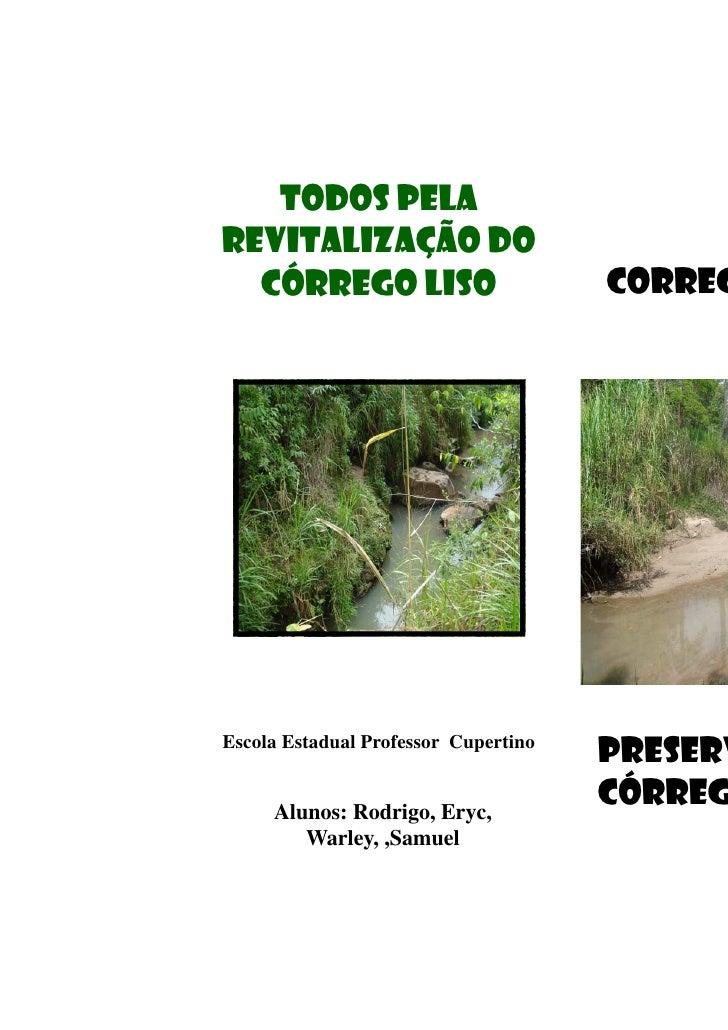 Todos pela revitalização do   córrego liso                        CORREG     Escola Estadual Professor Cupertino          ...