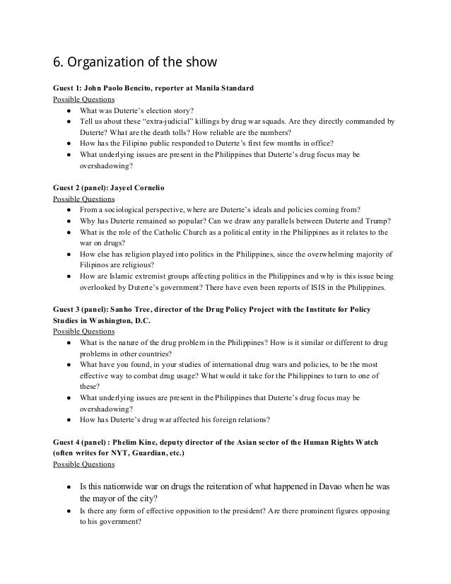 rodrigo duterte official research document 16