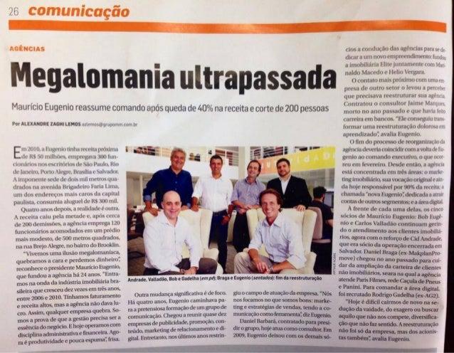 Eugenio Publicidade - Matéria Meio & Mensagem - Rodrigo Gadelha