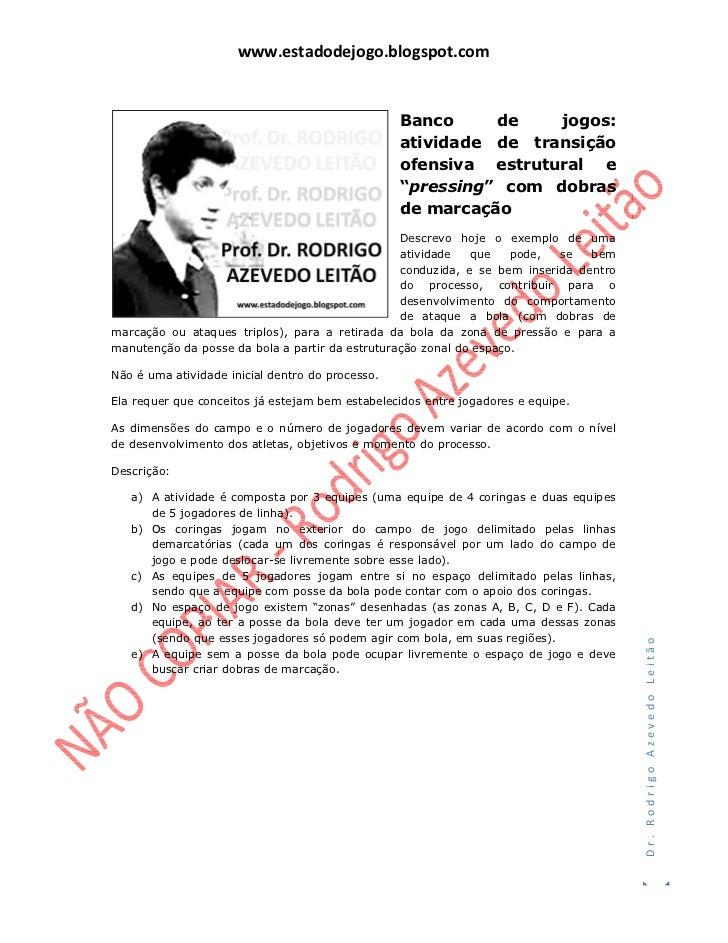 www.estadodejogo.blogspot.com                                                  Banco     de    jogos:                     ...