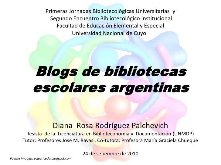 Primeras Jornadas Bibliotecológicas Universitarias  y <br /> Segundo Encuentro Bibliotecológico Institucional<br />Faculta...