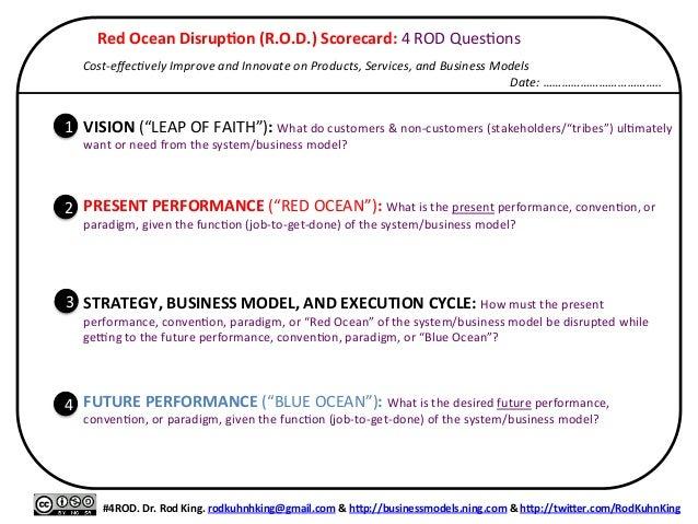 Red  Ocean  Disrup/on  (R.O.D.)  Scorecard:  4  ROD  Qu...