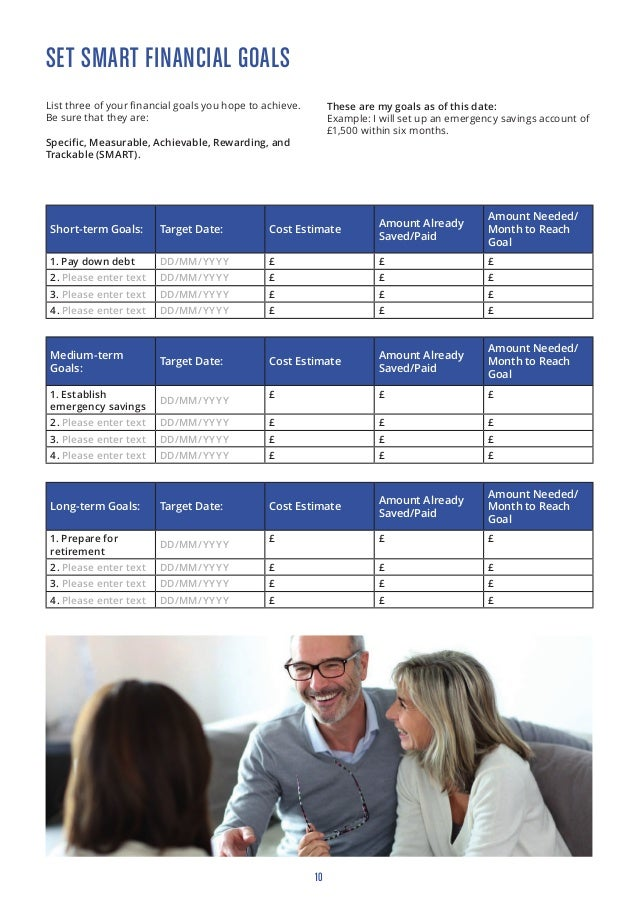 Rod Thomas Investment Financial Goals Budgeting Worksheet
