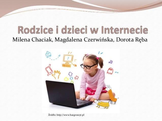 Milena Chaciak, Magdalena Czerwińska, Dorota Ręba            Źródło: http://www.bazgroszyt.pl