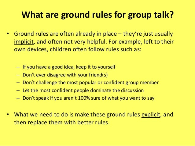 Group Work Rules 53