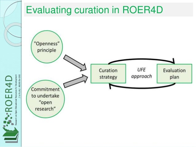 Evaluating curation in ROER4D