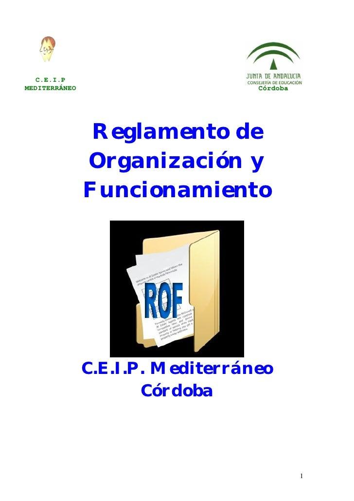 C.E.I.PMEDITERRÁNEO                      Córdoba                Reglamento de               Organización y               F...