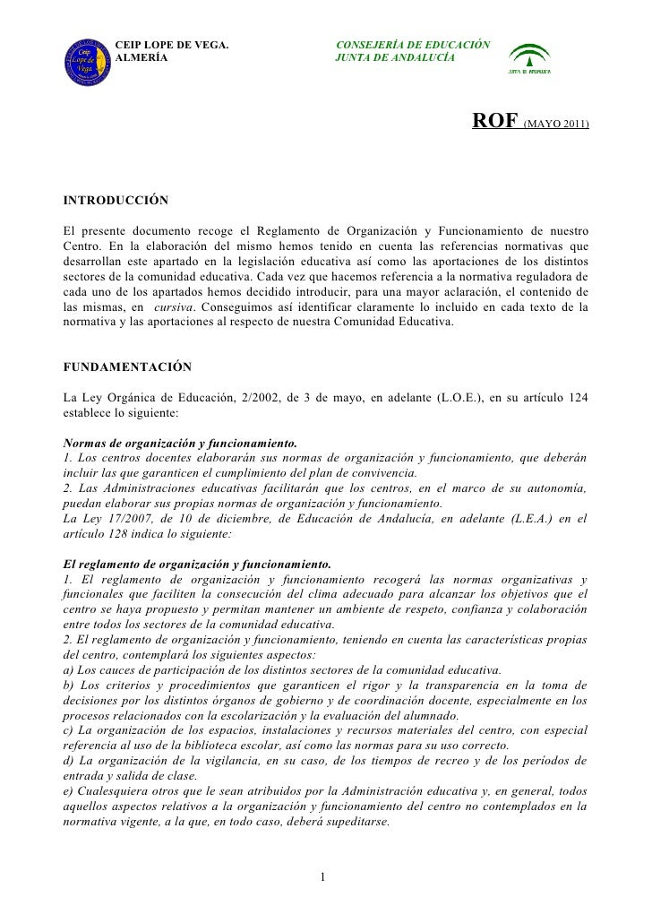 CEIP LOPE DE VEGA.                        CONSEJERÍA DE EDUCACIÓN         ALMERÍA                                   JUNTA ...