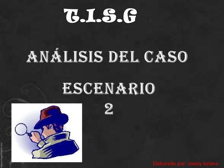 T.I.S.G<br />ANÁLISIS DEL CASO<br />Escenario 2<br />Elaborado por: Joxiny Solano<br />