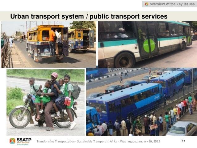 13 Urban transport system / public transport services Transforming Transportation - Sustainable Transport in Africa - Wash...