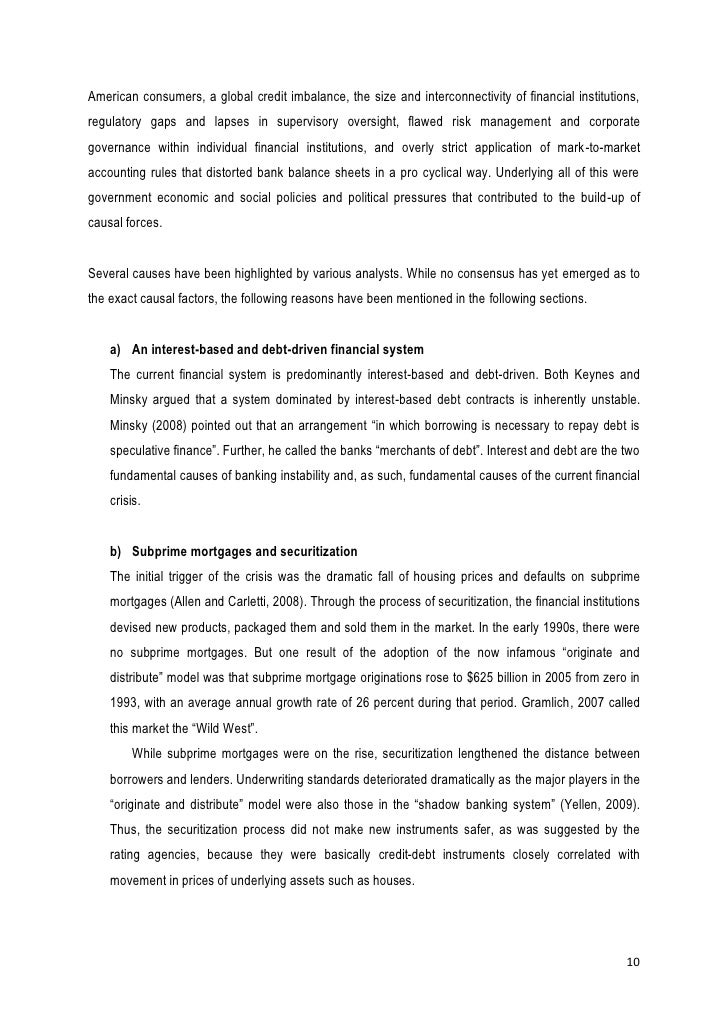thesis global financial crisis pdf