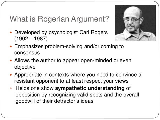 rogerian essay outline A successful rogerian argument essay structure spends time discussing opposing positions this is what sets the rogerian essay apart from other types of papers.