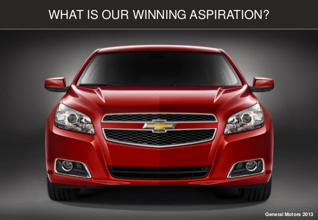 WHAT IS OUR WINNING ASPIRATION? General Motors 2013