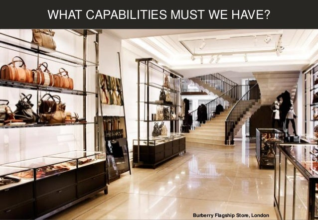 WHAT CAPABILITIES MUST WE HAVE? Burberry Flagship Store, London