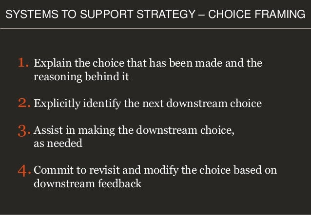 Enjoy the Buffet Playing to win How to make strategy work