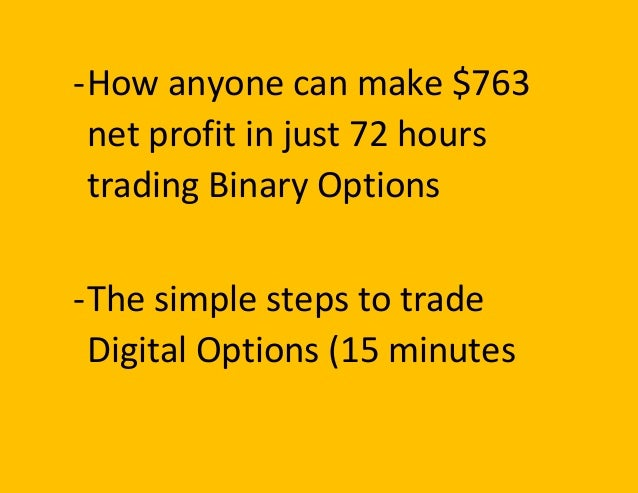 Can anyone trade binary options