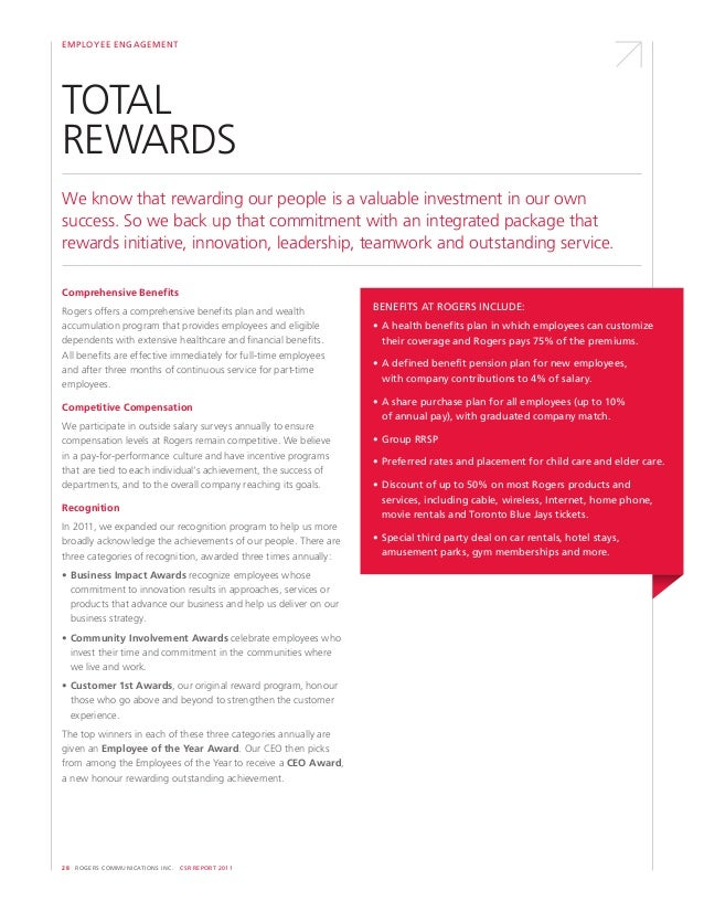Rogers 2011 Corporate Social Responsibility Report