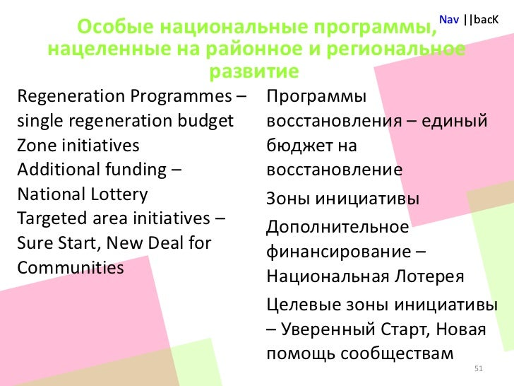 Single regeneration budgets 1997