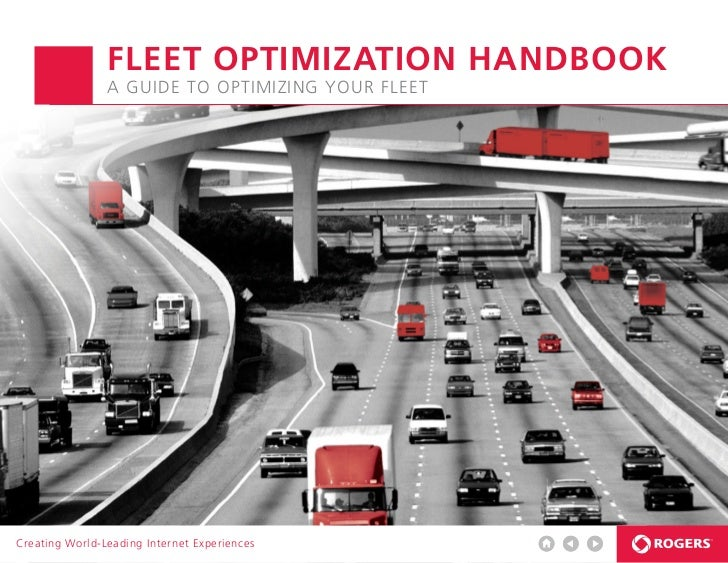 FLEET OPTIMIZATION HANDBOOK                A guide to optimizing your fleetCreating World-Leading Internet Experiences