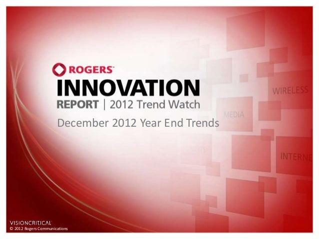 December 2012 Year End Trends© 2012 Rogers Communications