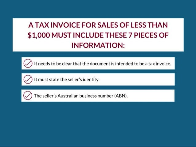 Tax Invoice Compliance Rogerson Kenny Business Accountants – Tax Invoices