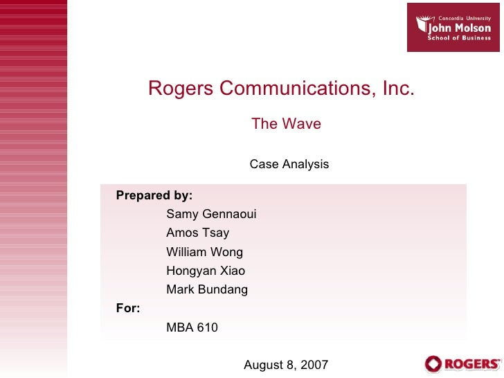 Rogers Communications Inc Case Study Help - Case Solution & Analysis