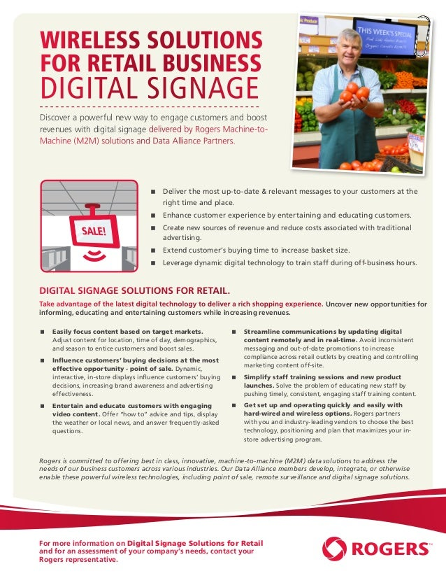 Wireless Solutions           for Retail Business           Digital Signage           Discover a powerful new way to engage...