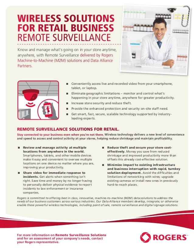 Wireless Solutions         for Retail Business         Remote Surveillance          Know and manage what's going on in you...