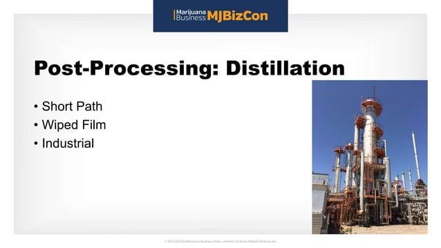 Post-Processing: Distillation • Short Path • Wiped Film • Industrial