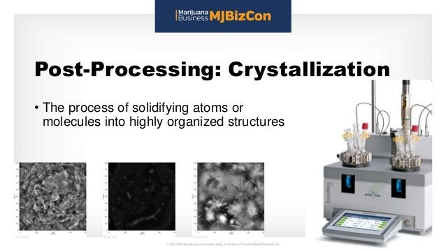 Post-Processing: Crystallization • The process of solidifying atoms or molecules into highly organized structures