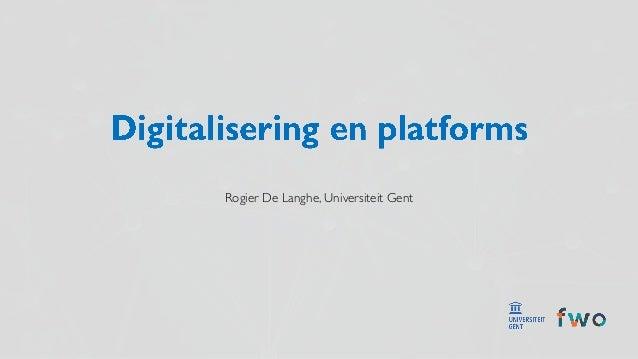 Rogier De Langhe, Universiteit Gent