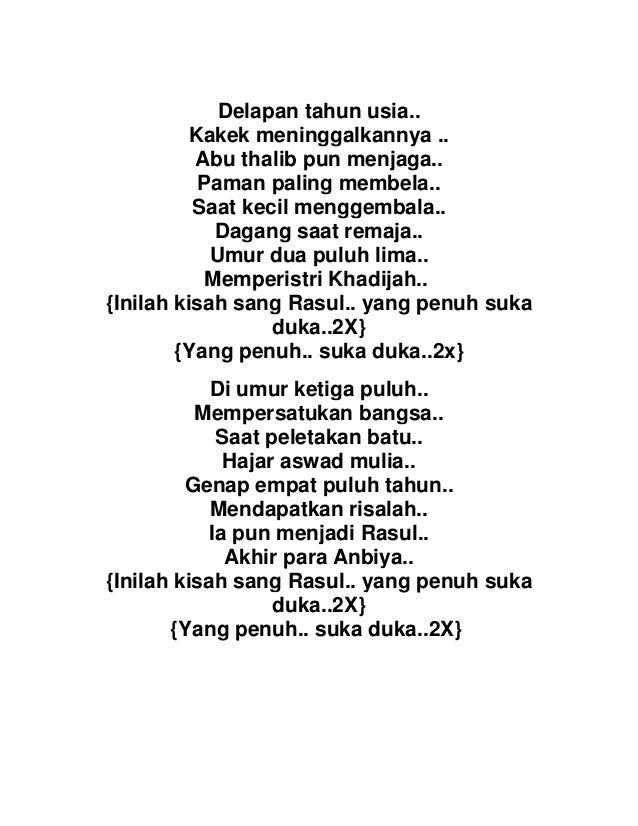 Rohatil kisah sang rasul + lirik dan terjemah# lagu versi sholawat.