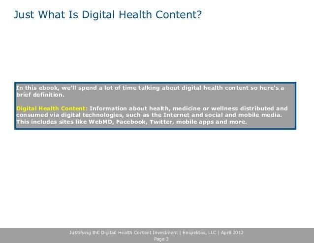 Beyond ROI: Measuring Digital Health Content's Full Economic Benefits Slide 3