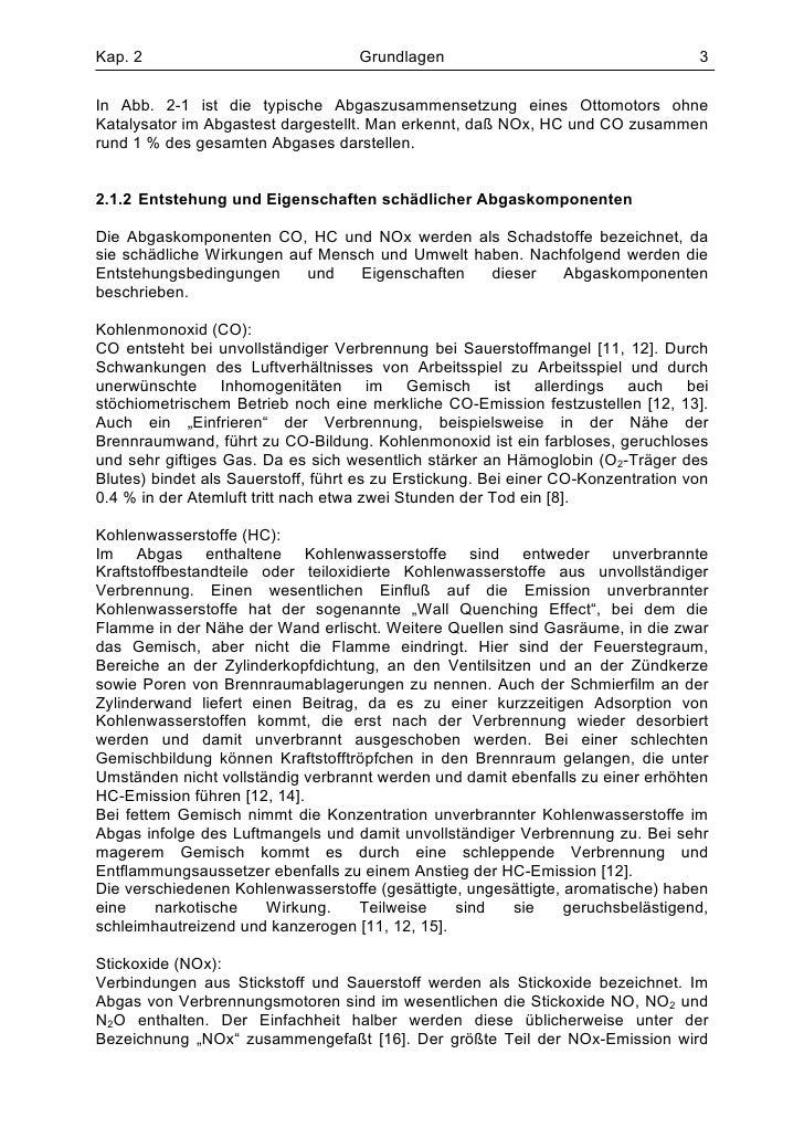 Kap. 2                              Grundlagen                                     3In Abb. 2-1 ist die typische Abgaszusa...